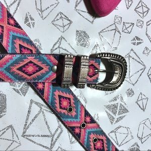 Accessories - GUC Nuovo Aztec Design Belt With Embossed Buckle